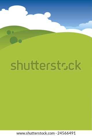Landscape ecology background - stock vector
