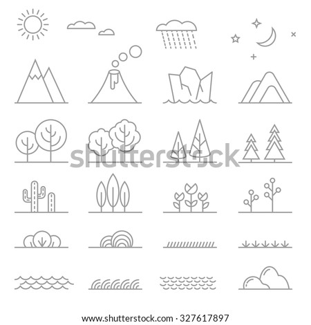 landscape elements trees and