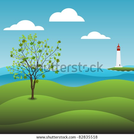 Landscape green background