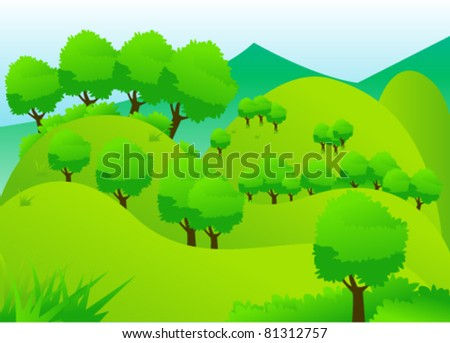 landscape green forest