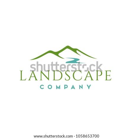 landscape hills logo design