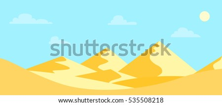 landscape hot desert flat