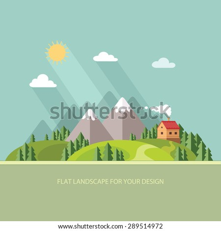 landscape houses in the