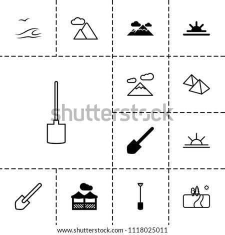 landscape icon collection of
