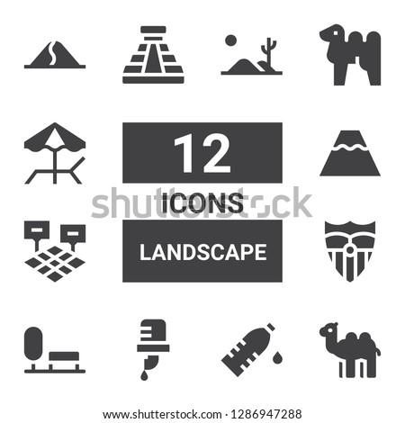landscape icon set collection