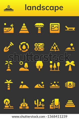 landscape icon set 26 filled