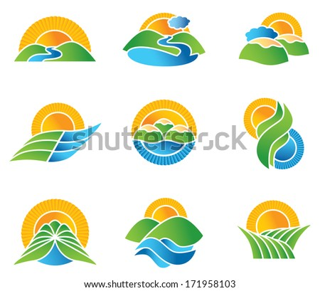 landscape icons   great nature