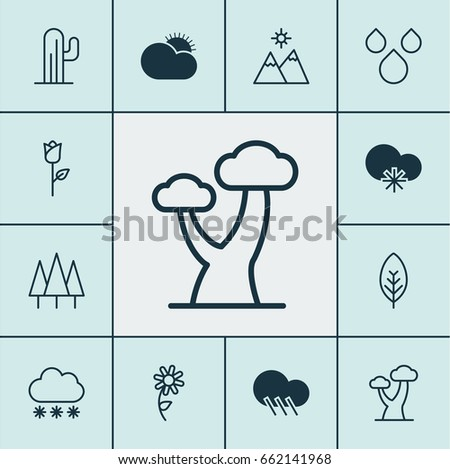 landscape icons set collection