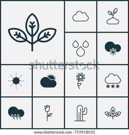 landscape icons set collection