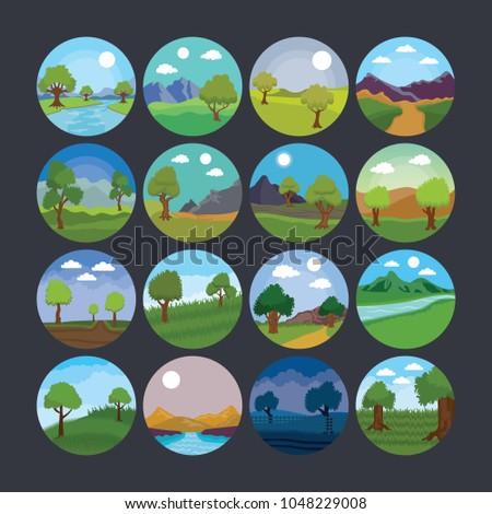landscape illustration icon 11