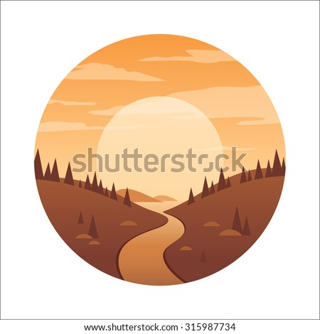 landscape illustration with