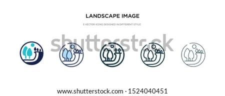 landscape image icon in