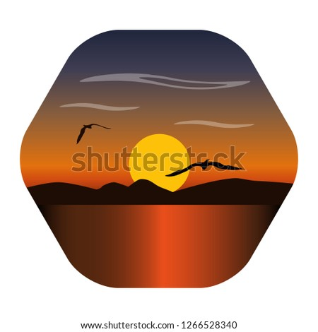 landscape image of a sunset