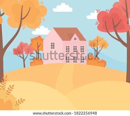 landscape in autumn nature