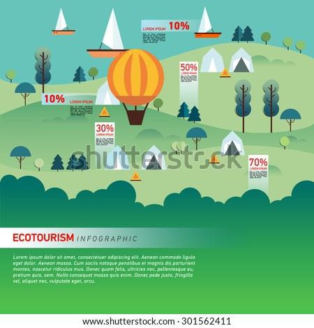 landscape infographics lake