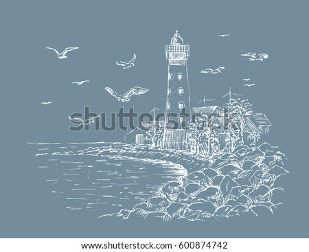 landscape lighthouse sea and