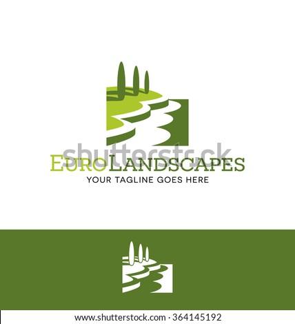 landscape logo for lawn or