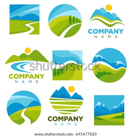 landscape logotypes set with