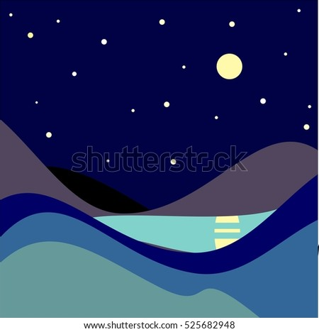 landscape moonlit night