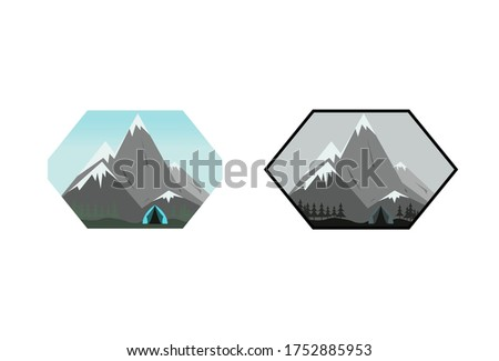 landscape mountain illustration