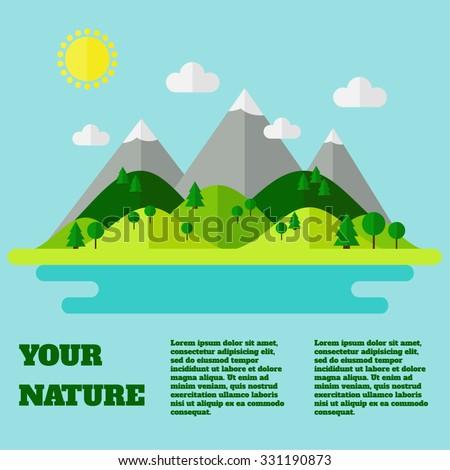 landscape mountains  hills
