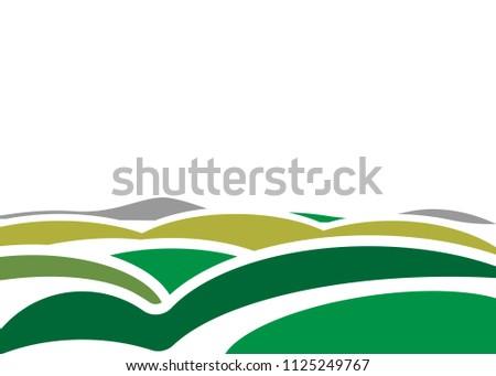 landscape mountains waves
