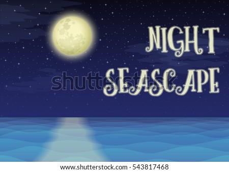 landscape  night seascape