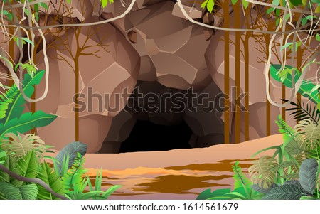 landscape of cave in the jungle Stock photo ©
