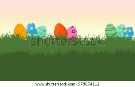 easter bunny landscape download free vector art stock graphics