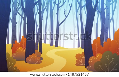 landscape of forest path in