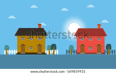 landscape of house at the