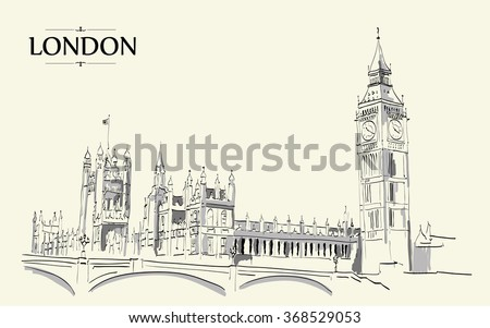 landscape of london   big ben...