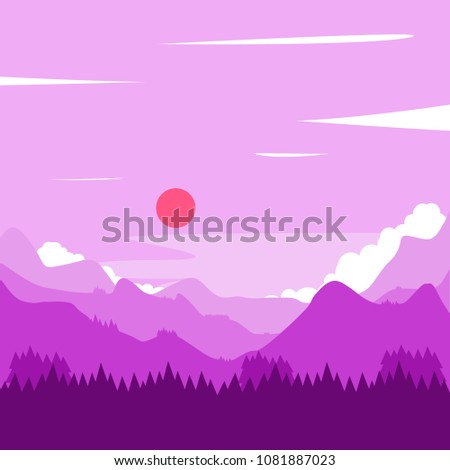 landscape of mountains of