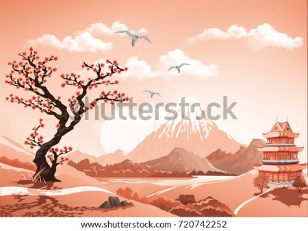 landscape of nature asia this