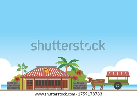landscape of old rural houses