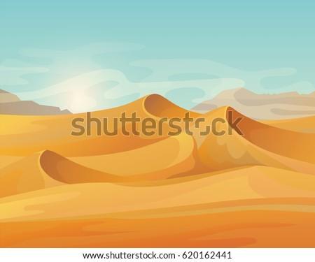 landscape of sand hot desert