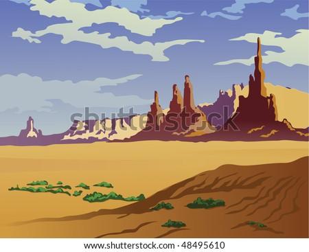 landscape of the arizona desert