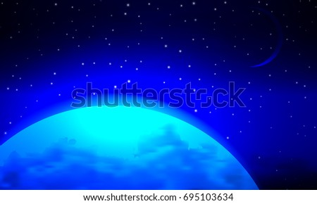landscape of the blue planet