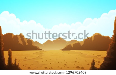 landscape of vast desertic