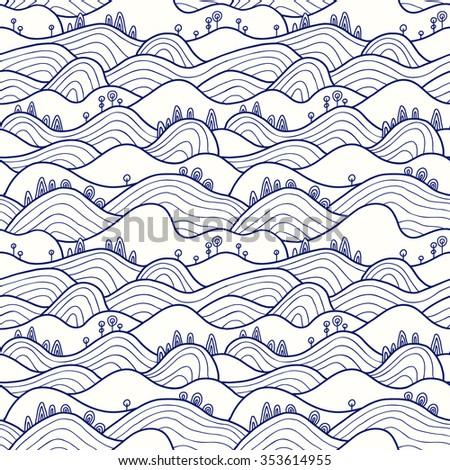 landscape pattern vector