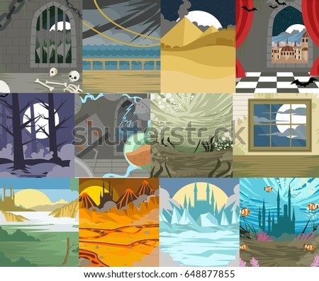 landscape scenes backgrounds