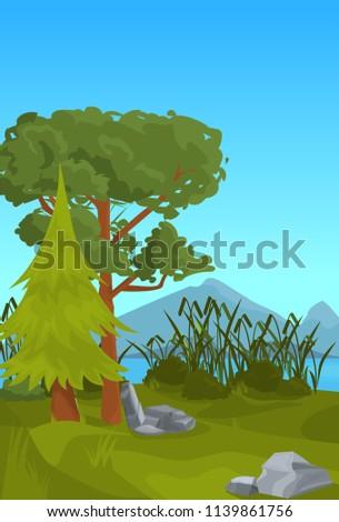 landscape spruce pine mountain