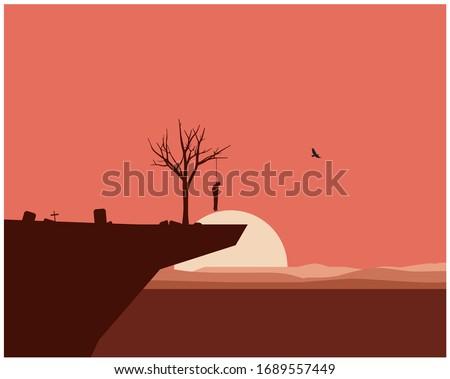 landscape suicide vector