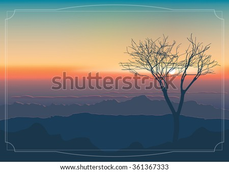 landscape  sunset over