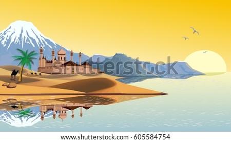 landscape   the arab fortress