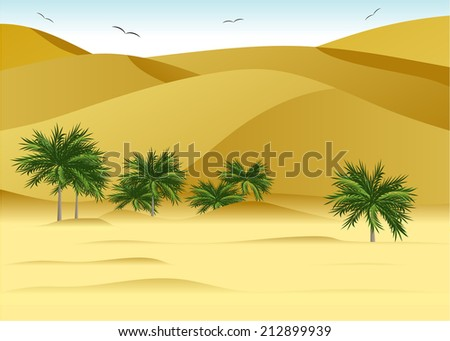 landscape to deserts  dunes and