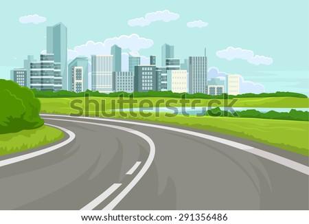landscape vector flat