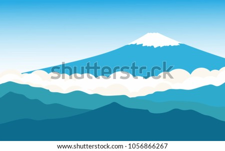 landscape view of mount fuji in
