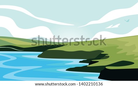 landscape view of the isolated