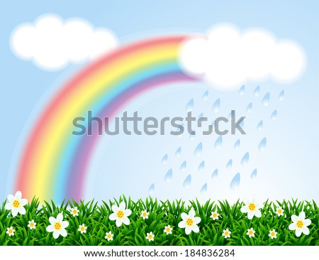 landscape with a rainbow and